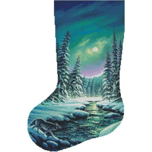 A Quiet Stroll Stocking (Left) by Artecy printed cross stitch chart